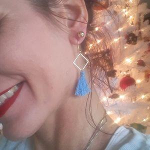 Bogo Adorable Baby Blue Tassel earrings